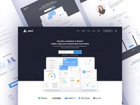 Landing Page Design for a Software Company