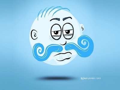#onestacheaday 2 onestacheaday digital art sphere ball movember moustache stach