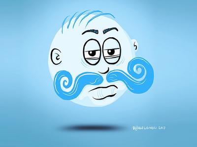 #onestacheaday 2 onestacheaday digital art sphere ball movember moustache stach