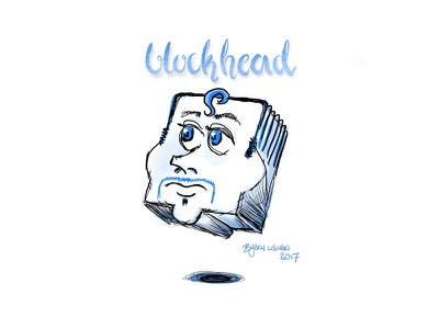 #onestacheaday 8 blockhead outlines digital art stach moustache movember