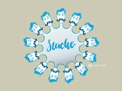 #onestacheaday 10 mandalahaha digital art stach moustache movember