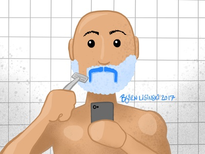 #onestacheaday 11 shave digital art stach moustache movember