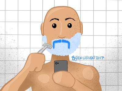 #onestacheaday 11 shave digital art stach moustache movember