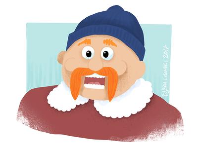 #onestacheaday 13 lumberjack digital art stach moustache movember