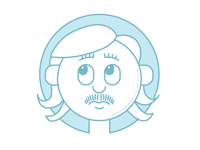 #onestacheaday 14 vector lineart digital art stach moustache movember