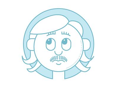 #onestacheaday 14 vector lineart digital art stach moustache movember