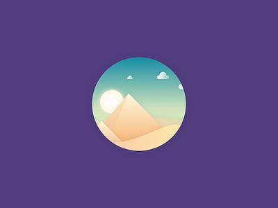 Dreams Egypt  giza pyramid color icon logo