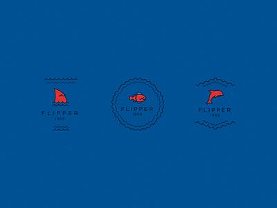 Logo Flipper ux ui icon flat dailiui muzli design clean character blue art logo