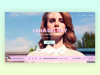 Lana Del Rey 3 dailyui muzli shot ux ui element music parallax color site web design