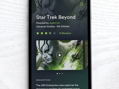 Movie Details 🎥 dark media video movie mobile ios
