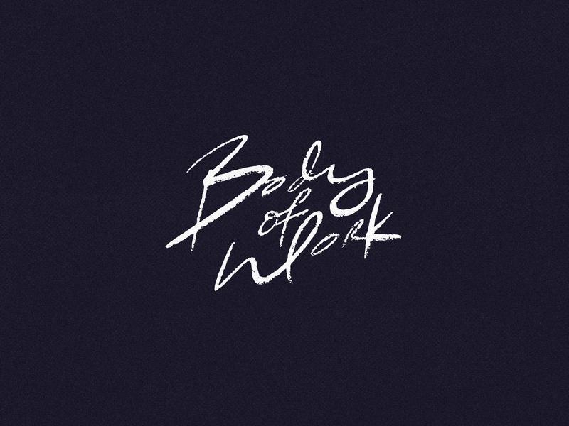 Body of Work wellness fitness logo fitness mark branding typography identity logo