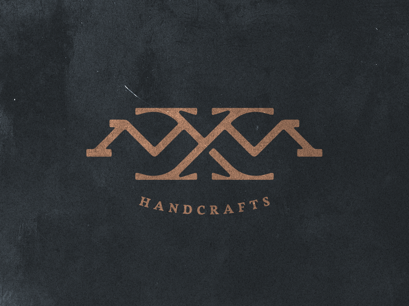 MxM Handcrafts typography monogram branding identity brand mark logo