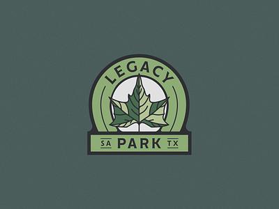 Legacy Park san antonio park sycamore mark branding emblem brand logo
