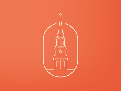 CHS outline logo mark south carolina holy city steeple church sc charleston
