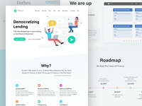 Landing page for cryptocurrency landing platform
