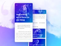 Blog app concept design
