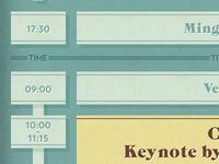 Timeline for a schedule/program
