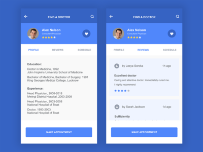 Daily UI #006 Doctor Profile