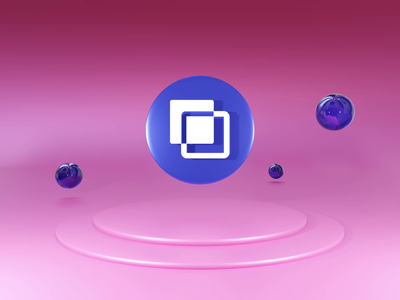 Overlaps 3D logo animation debut ux app icon figma motion graphics animation 3d typography vector logo branding ui illustration design