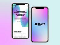 Restart Media website mobile