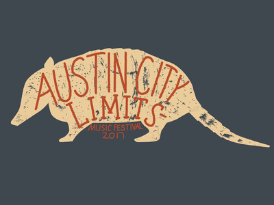 ACL Fest - Armadillo hand lettering hand letter rough texture austin city limits acl fest acl texas austin armadillo