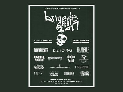 Brigade Fest 2017 Flyer