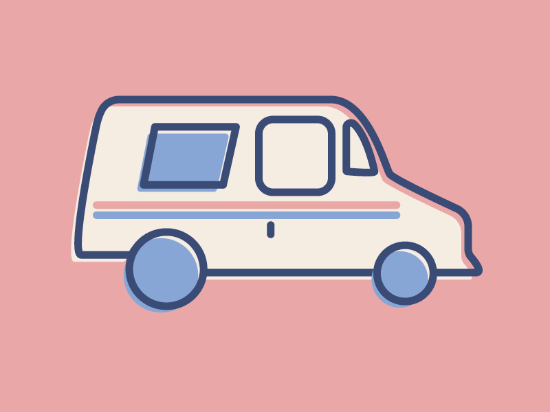 USPS Truck by Jonathan Lee Gonzales on Dribbble
