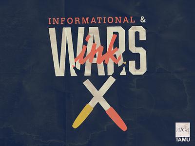 AIGA TAMU Informational Poster texture marker ink ink wars poster texas am tamu aiga