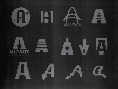 Alleviate Letter-mark WIP wip branding alleviate logo a mark letter mark