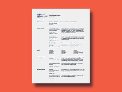 Resume grid typography layout cv resume