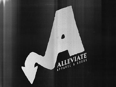 Finalized Alleviate Logo texture letter mark letter a clothing brand brand mark logo
