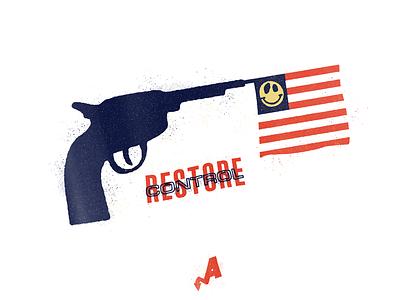 Restore Control florida usa united states texture illustration flag political politics america gun gun control