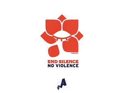 End Silence. No Violence. eye alleviate political lotus flower silence violence sexual assault women metoo