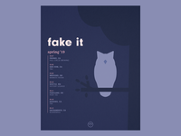 Fake It Spring Tour Poster