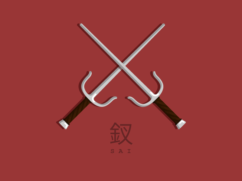 Ninja weapon Sai #3 by Walter Tille on Dribbble