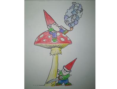 Dwarves character design sketch freehand drawing dwarves