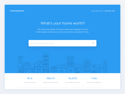 Home valuations Landing Page