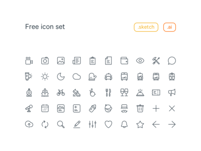20x20 Free Line Icon set