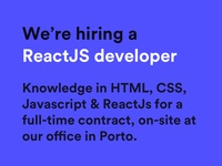 We're hiring a ReactJS developer!