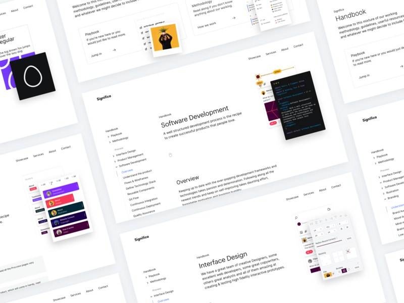 🤚📘Handbook @ Significa.co minimal clean design design porto ux ui significa website playbook handbook