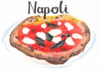 Italian regional specialities: Pizza, Napoli.