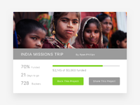 Missions crowdfunding dribbble