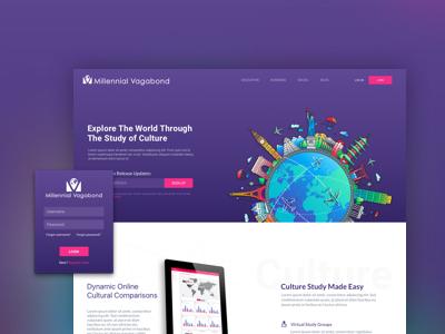 Cultural Studies App | Landing Page Design