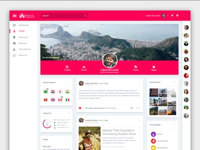 Social Travel Application | Prototype Design culture social media travel ui