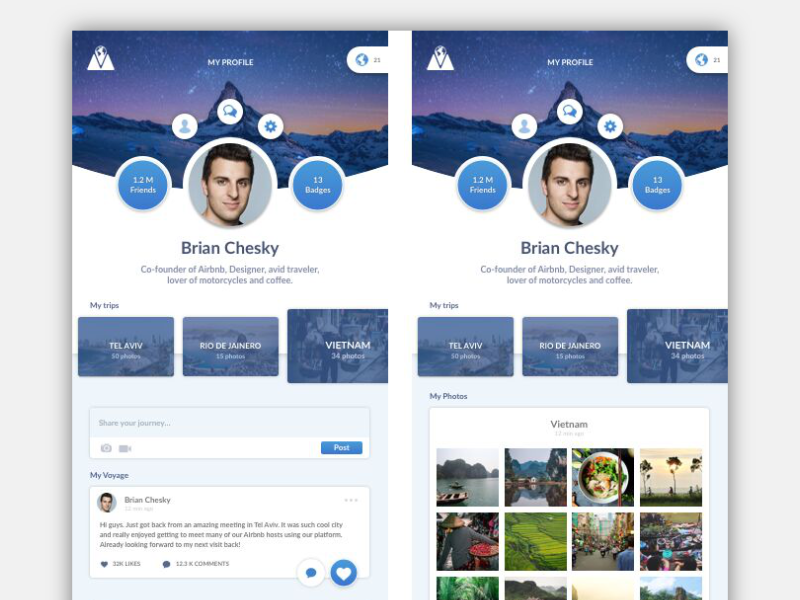 Social Travel | App Design travel