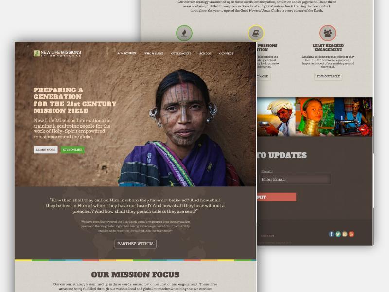 Non-Profit Missions Organization | Website Design non-profit