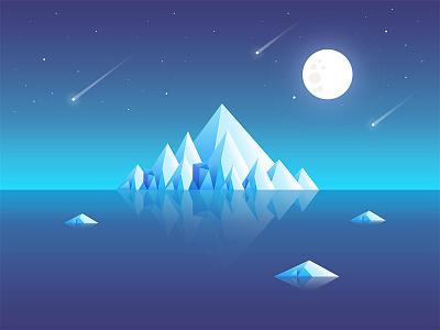 Iceberg night iceberg