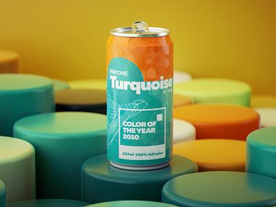 Pantone Color of the Year 2010 pantone soda can can branding illustration daily render render octane design cgi camilociprian 3d c4d