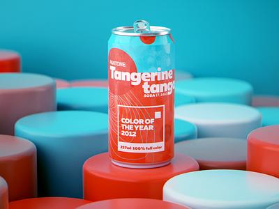 Pantone Color of the Year 2012 colors pantone graphic design soda can logos illustration logo render octane design cgi camilociprian 3d c4d