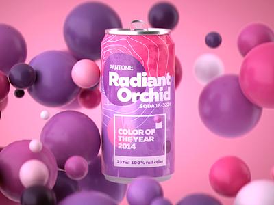 Pantone Color of the Year 2014 pantone 2014 designer design art soda can logo colors daily render render octane design cgi camilociprian 3d c4d